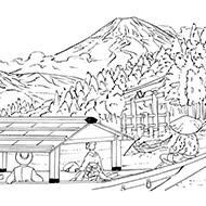 日本の世界遺産大人の塗り絵教室無料my介護の広場