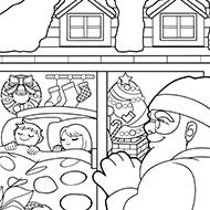 サンタを待つ子どもたち